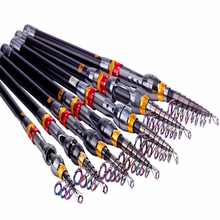 2.1m-2.7m Carbon Fiber Telescopic Fishing Rod Portable Spinning Fishing Rod Pole Travel Sea Boat Rock Fishing Rod цены онлайн