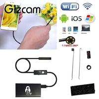 Gizcam 2m 5 5MM Android IOS IP67 Waterproof Wifi Endoscope Camera Inspection Android Windows Mini Camera