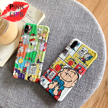 PINK LIPS Cartoon Dog luggage Phone Case For iPhone XS MAX XR Fashion Cute Trunk TPU Back Cover X 8 7 6 6S Plus Coque