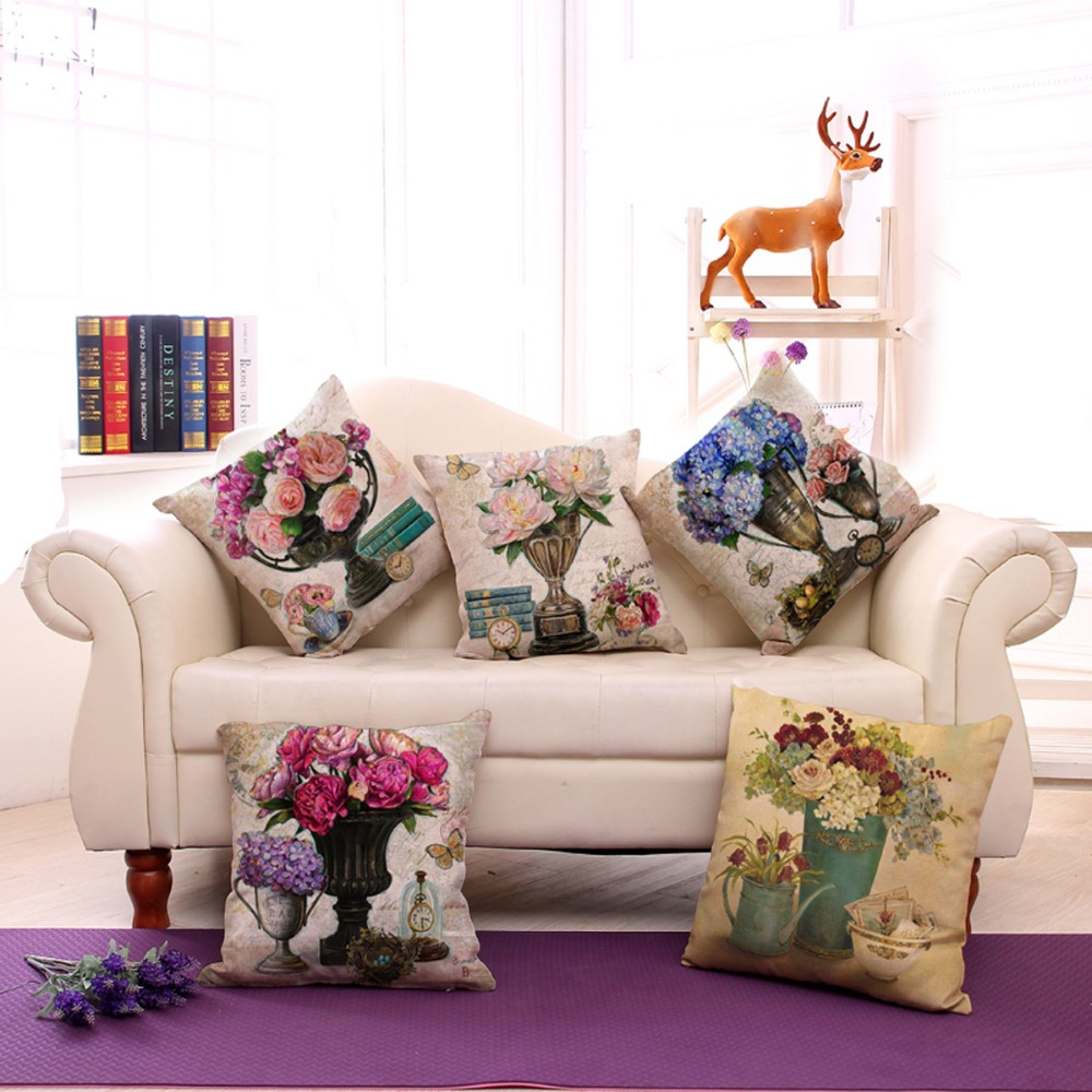 Online buy wholesale 20 vase from china 20 vase wholesalers 1 piece new creative design vintage flower vase pattern seat hug pillow cover decorative home chair reviewsmspy