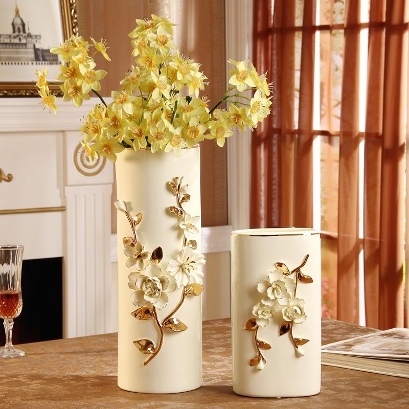 Piso jarrones de cer mica de estilo europeo decoraciones para el hogar adornos regalo de boda - Decoraciones para el hogar ...