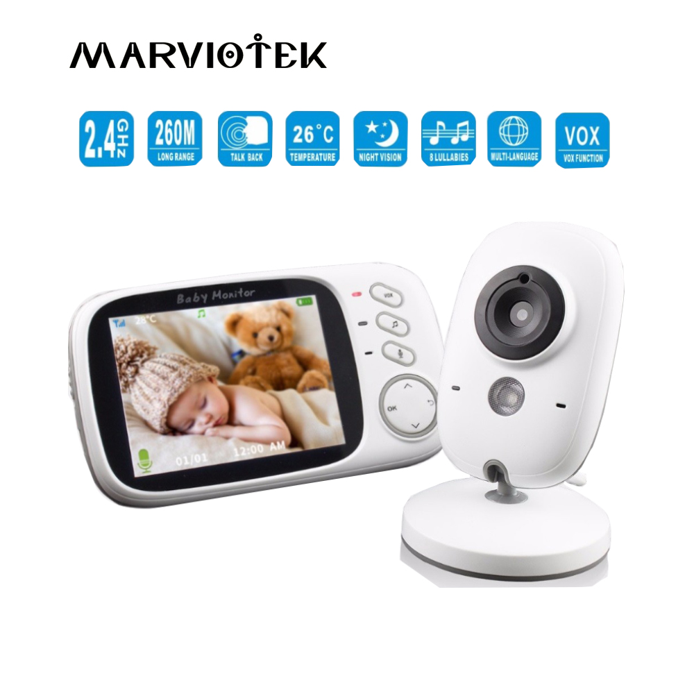 Детский спальный монитор детский монитор с беспроводной NightVison камера видео Детский Монитор радио няня 2 способа аудио разговор VB603