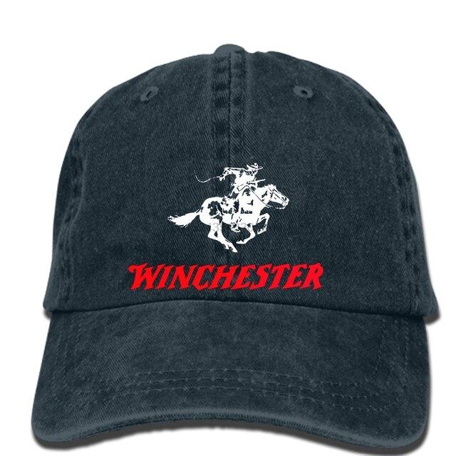 hip hop Baseball caps Winchester Gun Pistols Riffle Firearms Logo Men s  Black cap Mens Graphic hat 2218e781bd24