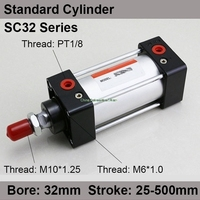 Airtac type Standard air cylinder 32mm bore 175mm stroke SC32x175 Double Acting pneumatic cylinders