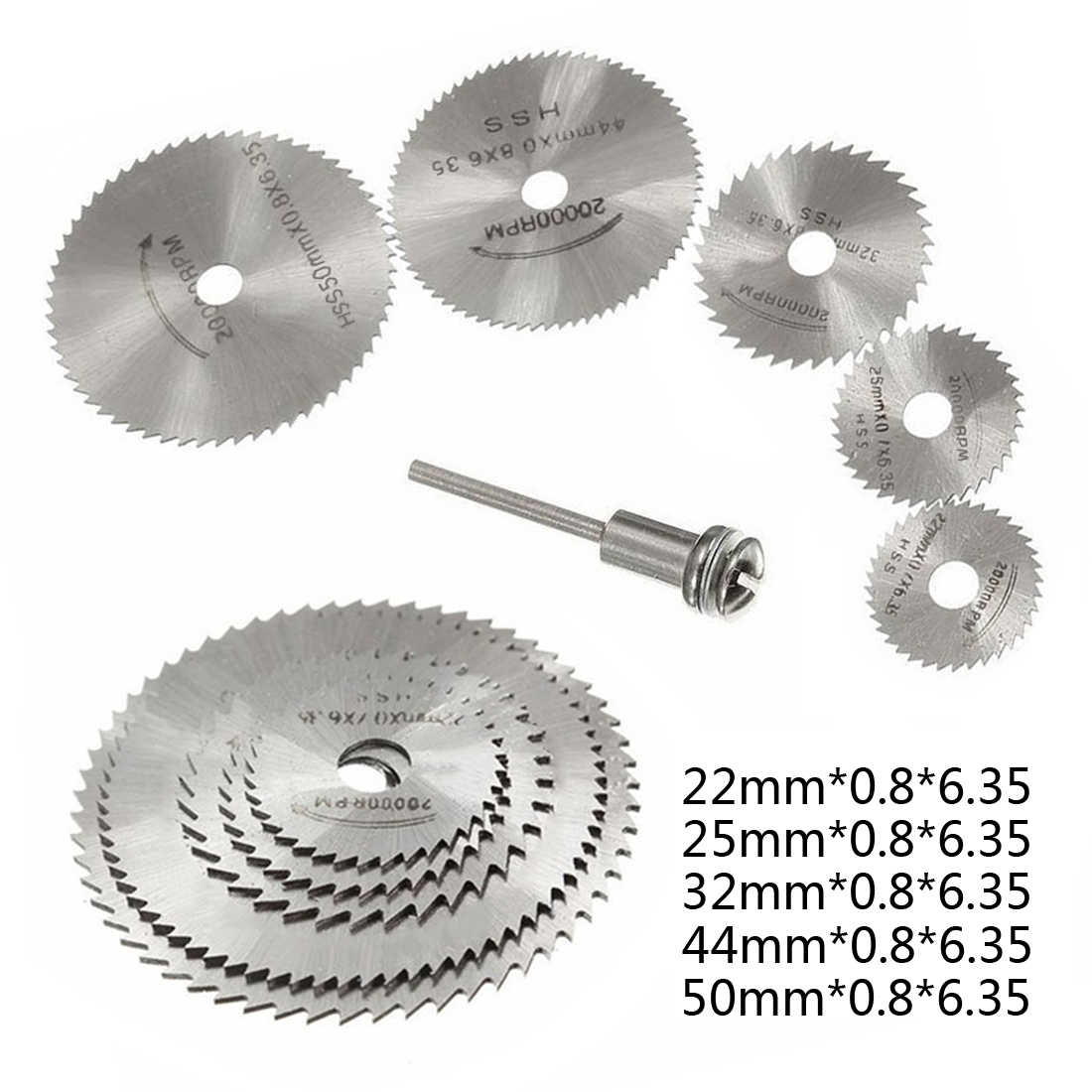 HSS Circular Saw Blade Rotary Tool For Dremel Metal Cutter Power Tool Set Wood Cutting Discs Drill Mandrel Cut Off