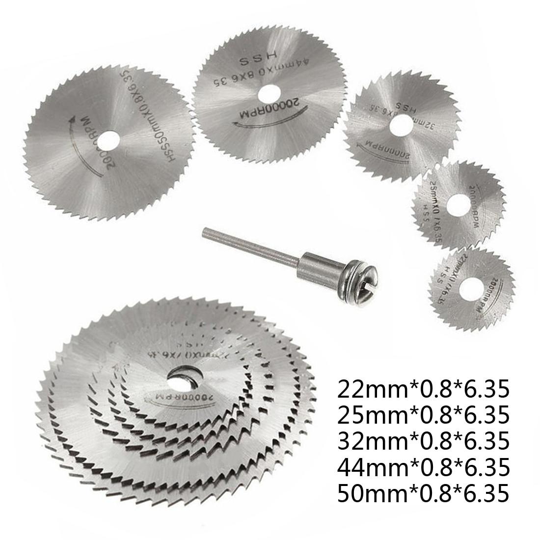 HSS Circular Saw Blade Rotary Tool For Dremel Metal Cutter Power Tool Set Wood Cutting Discs Drill Mandrel Cut Off