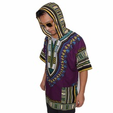 Unisex Loose African Hooded Dashiki