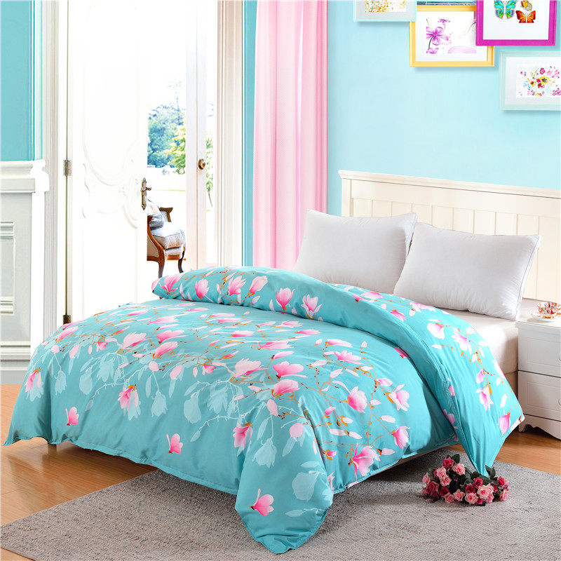 2017 new 1pc 100% polyester duvet cover pastoral style active printing warm sets twins queen can be customized