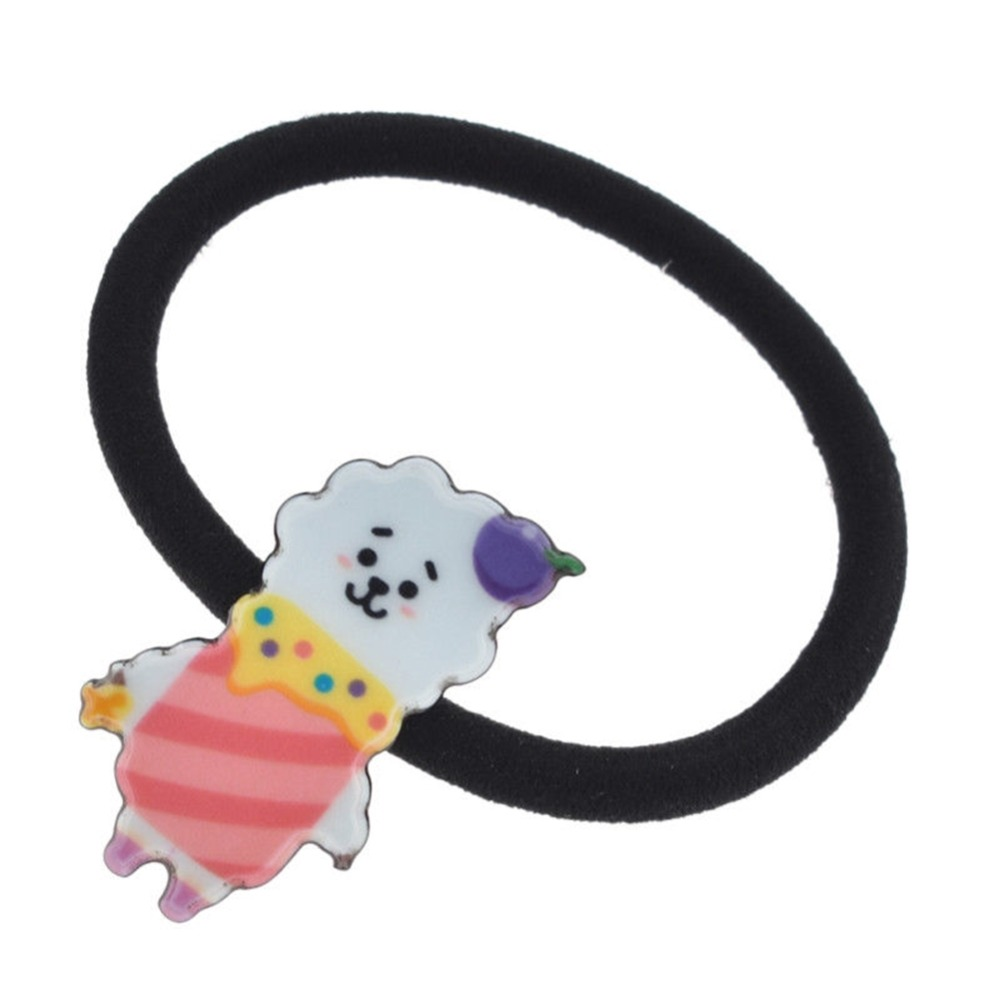Girl's Accessories Girl's Hair Accessories 1 Piece Kpop Bts Bt21 Lovely Cartoon Animal Elastic Hair Bands For Girls Lady Ponytail Rubber Band Hair Ties Rope Accessories
