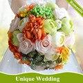 Multi-color Свежие Свадебные Цветы Свадебные Букеты Ручной Работы Искусственный Роуз Свадебные Букеты Букет Флер Mariage 2017 Новый Стиль