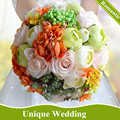 Multi-color Fresh Wedding Flowers Bridal Bouquets Handmade Artificial Rose Wedding Bouquets Bouquet Fleur Mariage 2017 New Style