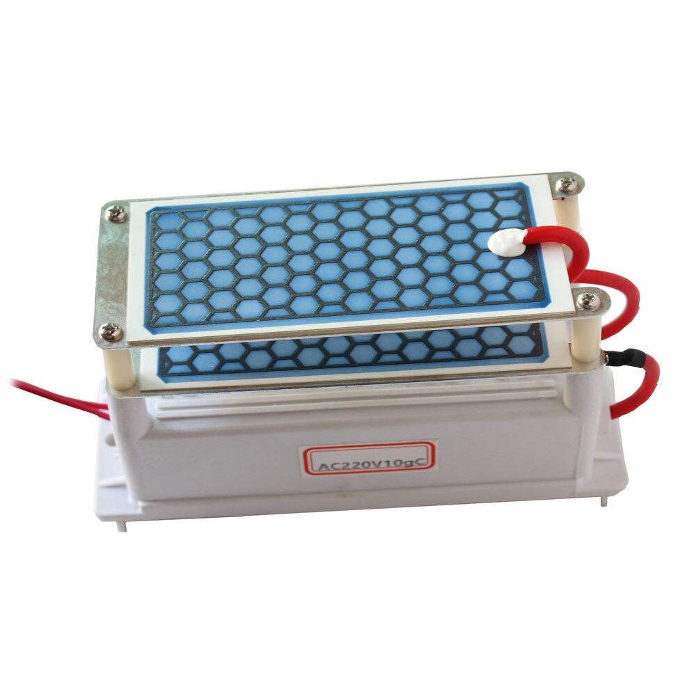 Purificateur d'air Portable générateur d'ozone en céramique 220 v/110 v 10g Double intégré longue durée de vie plaque en céramique ozoniseur désinfection de l'air