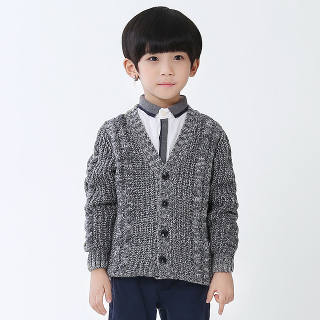 a67452923 4 13 years Baby Boys Sweater Cardigan Spring Cotton Clothing V Neck ...