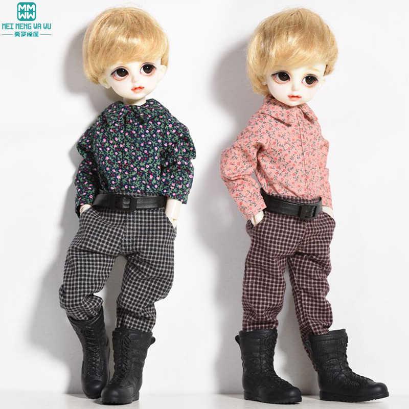 אופנה bjd בובת בגדי משובץ חולצה + משובץ מכנסיים מתאים 27 cm-30 cm 1/6 bjd בובות