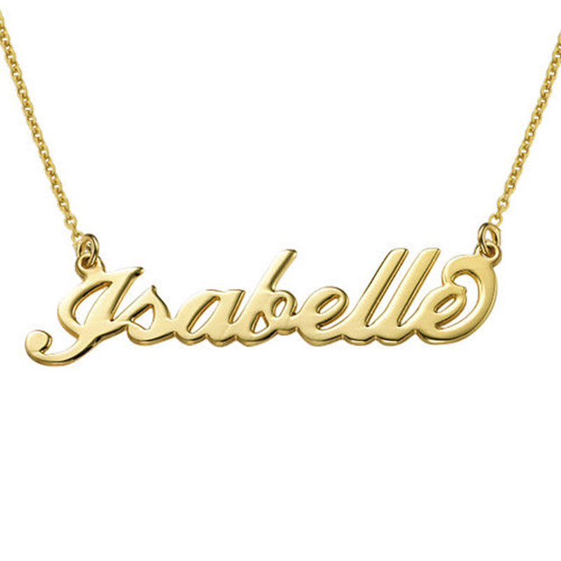 SHEON 100 925 Sterling Silver Customized Necklace Personalized Custom Name Pendant Neckalce Customized Jewelry For Women in Chain Necklaces from Jewelry Accessories