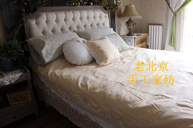 Free Shipping Handmade Crochet bed sheet Shabby Chic Vintage Look ...