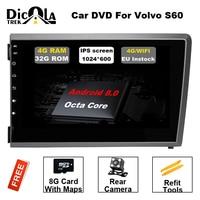 8 4G DSP ips Android 8,0 dvd плеер автомобиля для Volvo S60 V70 XC70 2000 2001 2002 2003 2004 gps навигации стерео радио dab +
