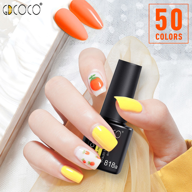 GDCOCO Nail Gel Varnish 8ml High Quality Nail Gel Polish Cheaper Price Plastic Bottle Bright Color Glitter Varnish Nail Gel 4