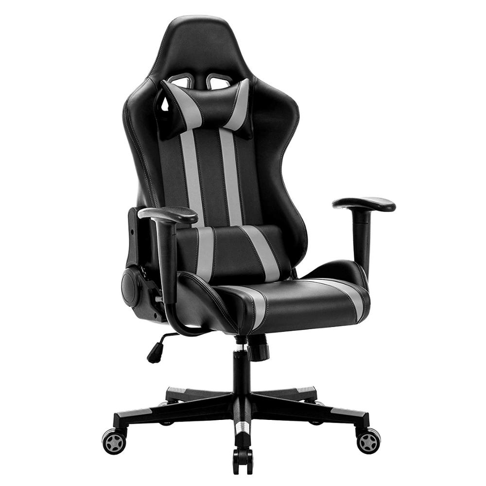 IntimaTe WM Racing Chair Computer Armchair PU Gaming Chair With Headrest & Lumbar Cushion 135 Degree Reclining Angle A35