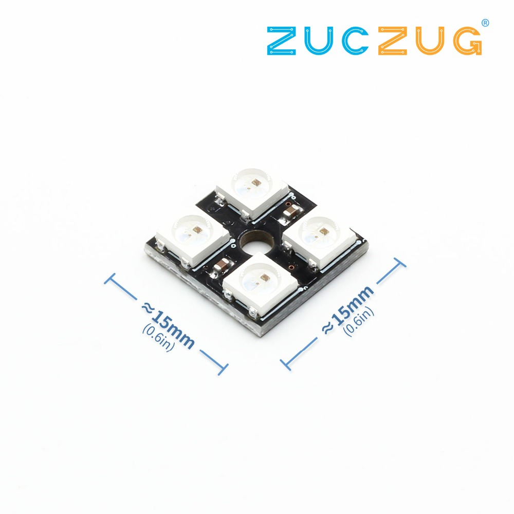 New Electric Unit 1pc 4 Bit Ws2812 5050 Rgb Led Driver Development Chip Application Circuit With I2c Interface Board Dc 5v 15mmx15mm Modules In Integrated Circuits From Electronic