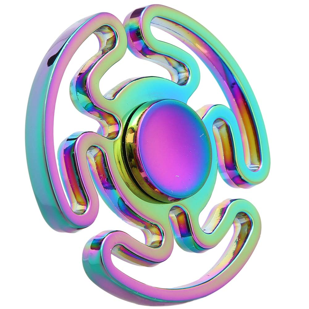 Maze Fingertips Gyro Ball Bearing Rainbow Color Kids Adults Hands Spinner Focus Toy Fingertip Gyro Toy Anti Stress Toys