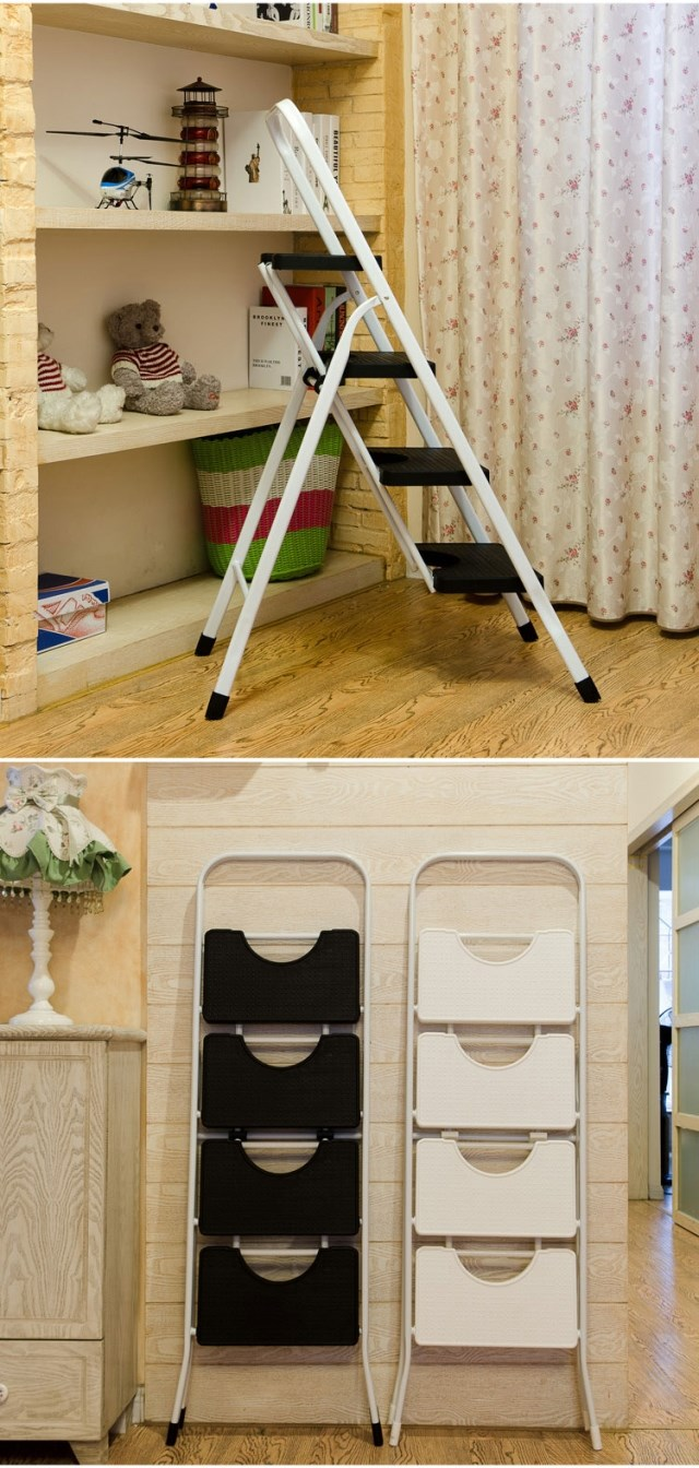 Furniture.. Ladder chairs. Climbing ladder chairs. 4 step ladder. White chairs
