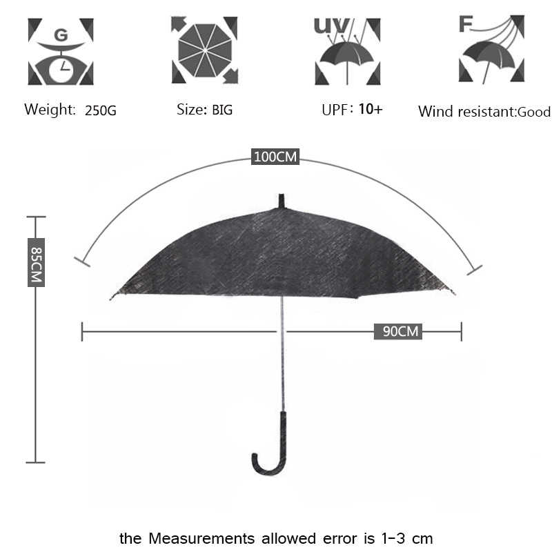 Yesello 1PCS Romantic imitation lace Transparent cute cat Large long Rain Wind Umbrella For Lolita Women Travel