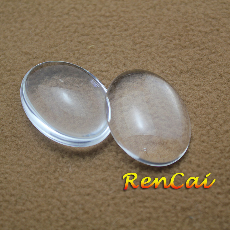 500pcs lot 18x25 20x30 22x30 30x40mm Oval Glass Cabochons Flat Back Clear Crystal For DIY Charm