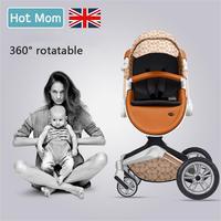Бесплатная доставка до Гонконга! Ландшафтная детская коляска может сидеть и лежать многофункциональная Складная двухсторонняя четырехкол
