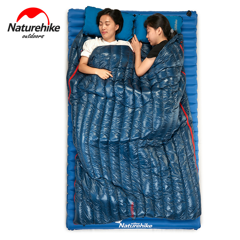 Brand Naturehike Ultra light down sleeping bag adult outdoor camping Goose down Square sleeping bag in autumn/winter warm Splice filling 3000g outdoor camping winter sleeping bag goose down splicing mummy ultra light goose down sleeping bag