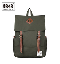 8848 hombres mochilas amy verde bolsas casuales 100% envío libre de la mochila de poliéster sólido patrón simple bolsa de la escuela portátil d002-7