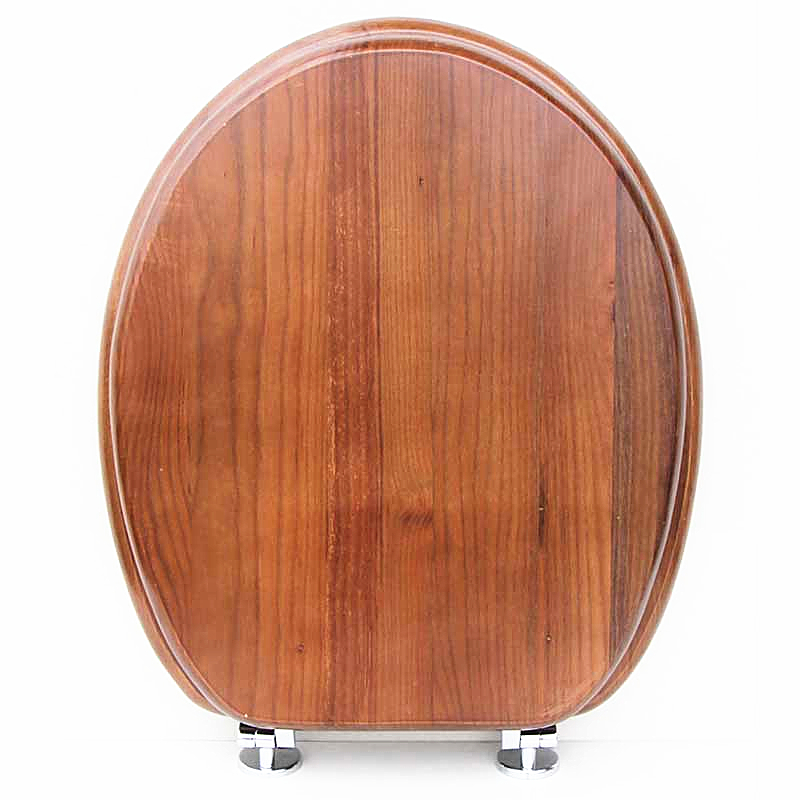 Solid wood O shaped type toilet seats Universal Slow Close toilet seats High quality Ordinary buffer
