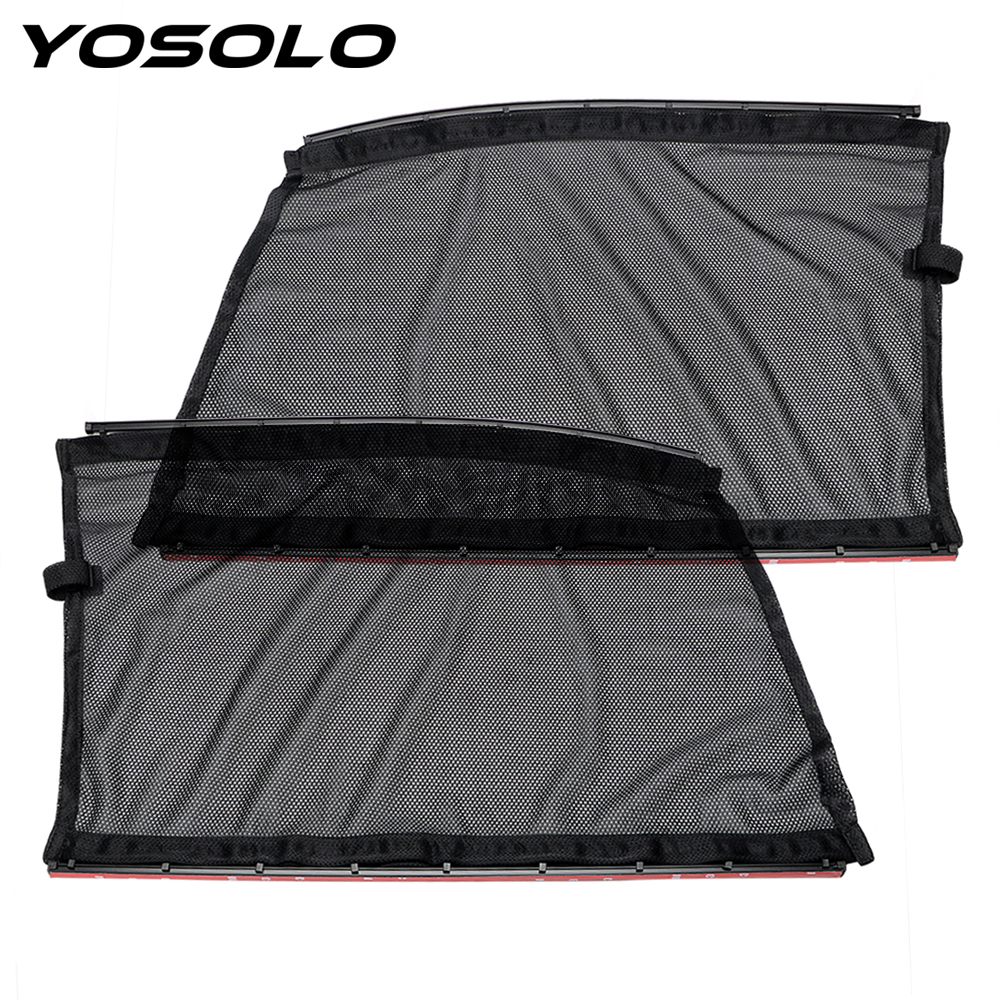 Yosolo 2 unids cortinas coche cortina del sol del coche - Accesorios coche interior ...