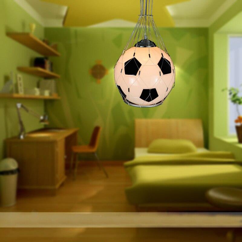 US $36.87 61% OFF|E27 Modern Minimalist Football Chandeliers Creative  Children Bedroom Lamp Chandelier Lamp Light Fixtures Modern Lighting-in  Pendant ...