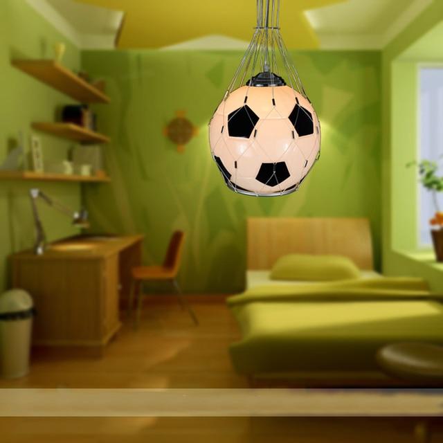 E27 Modern Minimalist Football Chandeliers Creative Children Bedroom Lamp Chandelier Light Fixtures Lighting