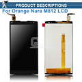 Digitador completo assembléia para alcatel one touch orange nura m812 m812c m812f display lcd + painel touch screen