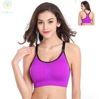 2016 Women Adjustable Nylon Spandex Sports Bra Fitness Underwear Yoga Bralette Running Gym Sexy Dew Back