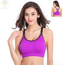2016 Women Adjustable Nylon/Spandex Sports Bra Fitness Underwear Yoga Bralette Running Gym Sexy Dew Back Push Up Shaper Bra
