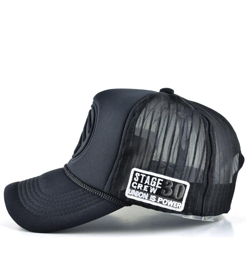 2017 Men gorras planas hip hop caps women trucker baseball cap men mesh  snapback adjustable hats for women hat casquette homme-in Baseball Caps  from Apparel ... bc2631bf9cb