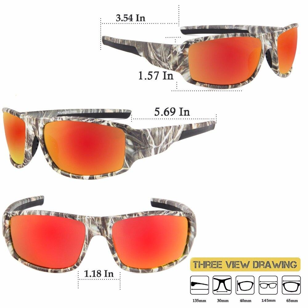 Queshark Tactical Camouflage Polarized Fishing Sunglasses Climbing ...