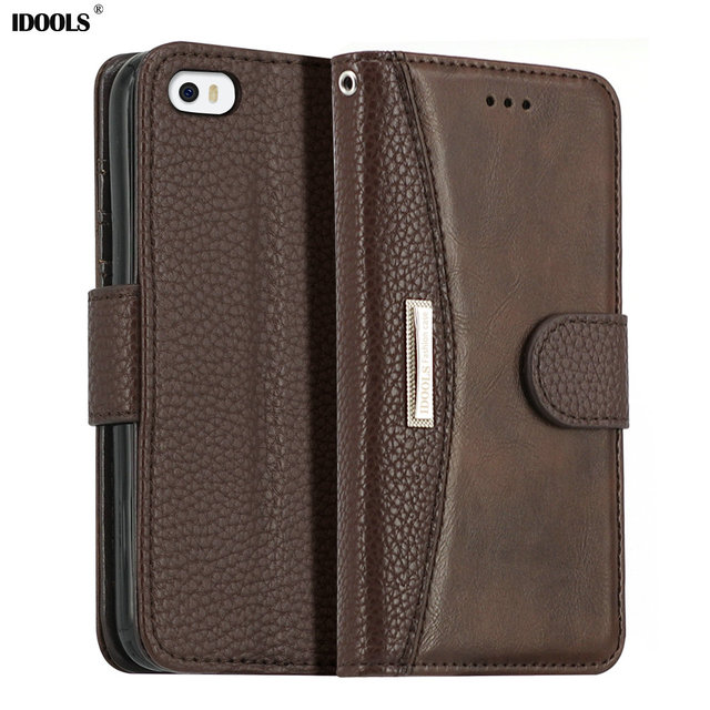 IDOOLS &Luxury Wallet Style PU Leather Case For iPhone 4 4S Vintage and Fashion LOGO For Apple iphones Cover