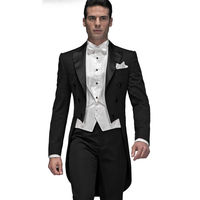 العرف الرجال الدعاوى الزفاف يتأهل العريس سهرة رفقاء tailcoats رسمي prom الزفاف (سترة + سترة + السراويل) y315