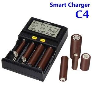 Image 2 - מקורי Miboxer C4 LCD חכם סוללה מטען עבור ליתיום IMR INR ICR LiFePO4 18650 14500 26650 16340 AAA AA סוללות 100 1500mA