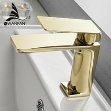 Смеситель для раковины для ванной комнаты, золотой кран с одной ручкой и отверстием, кран для раковины Grifo Lavabo, смеситель для горячей и холодной воды, кран 9922K