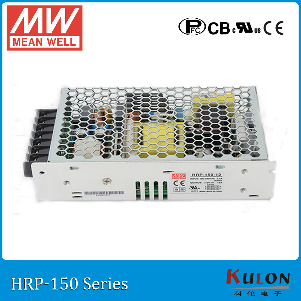 Original MEAN WELL HRP-150-24 single output 150W 6.5A 24V meanwell Power Supply HRP-150 with PFC function [nc c] mean well original epp 150 24 24v 4 2a meanwell epp 150 24v 100 8w single output with pfc function