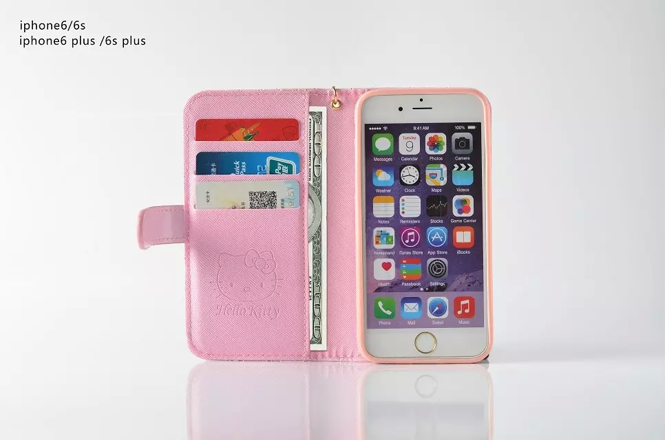 3b327578f Fashion Women Girl Lanyard Hello Kitty Flip Wallet Stand Leather Case For iPhone  7/7 Plus 6 6S/Plus With 6 Card Holders Cover on Aliexpress.com | Alibaba ...