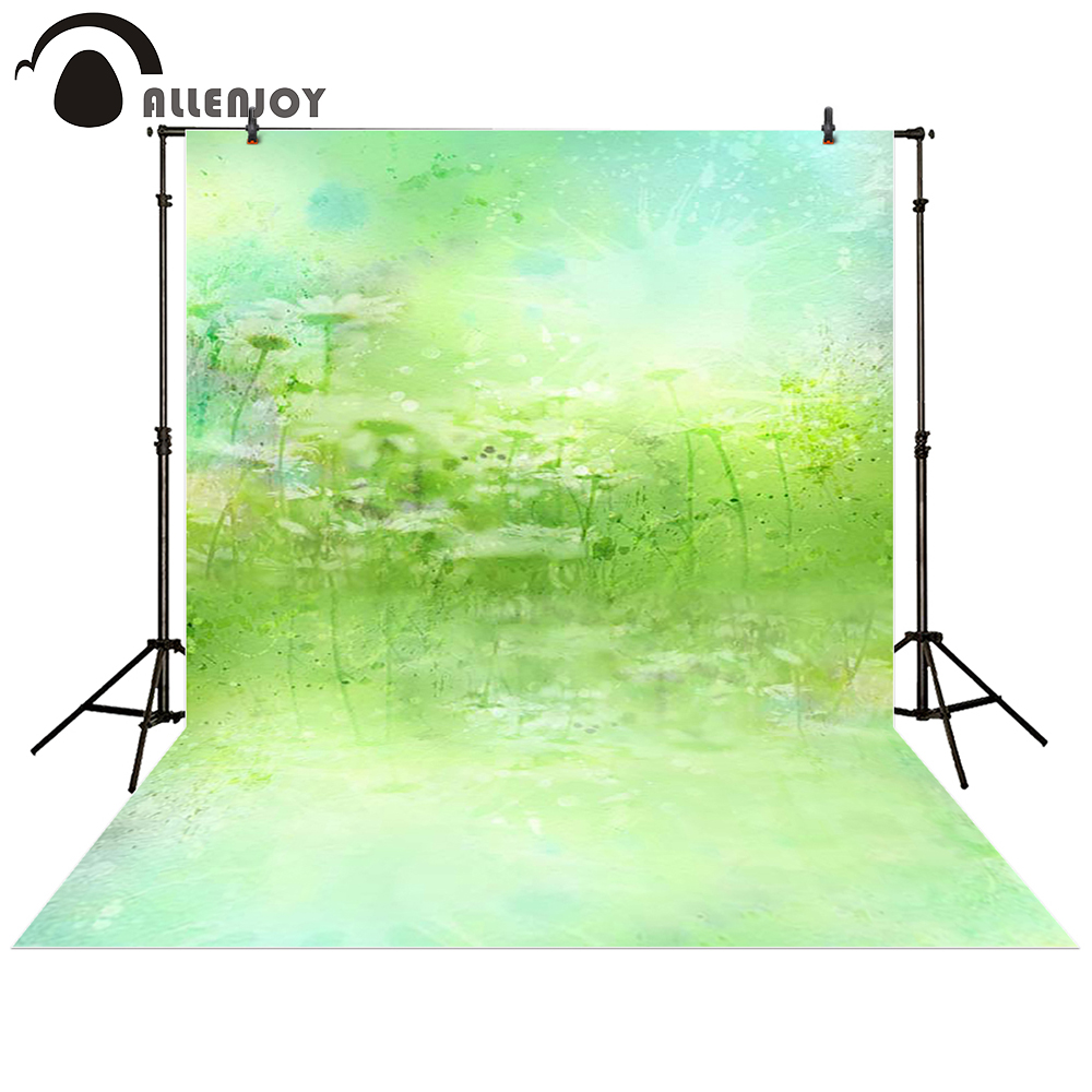 Allenjoy photography backdrop Flower green field hazy baby shower children background photo studio photocall allenjoy background for photo studio baby shower monthly growth backdrop photobooth photocall printed photographic accessories