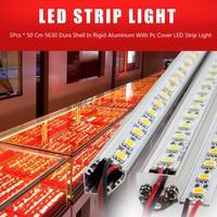 5 stücke 50 cm Fabrik Großhandel 50 CM DC 12 VSMD 5630 LED Fest Steifer GEFÜHRTER Streifen Bar Licht mit Aluminium shell + pc abdeckung