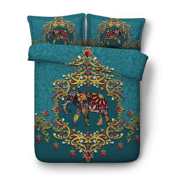 Слон кровать комплект постельных принадлежностей класса люкс Калифорния King queen размер одеяло пододеяльник кровать в сумке листа белье ПОЛН