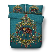 Elephant bed set Bedding set Luxury California King Queen size quilt duvet cover bed in a bag sheet linen full twin double  4PCS feather duvet cover bedding set luxury california king queen size sheets bed in a bag sheet linen full twin double single 4pcs